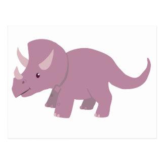 Leuke Paarse Triceratops (baby Torosaurus) Briefkaart