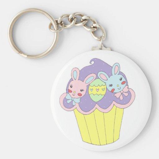 Leuke Paashazen Cupcake Sleutelhangers