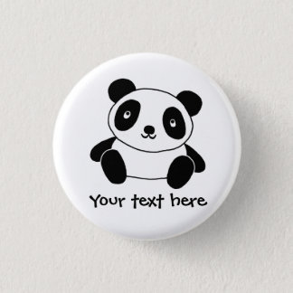 Leuke Panda Ronde Button 3,2 Cm