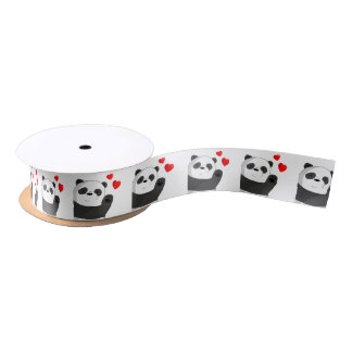 Leuke panda satijnen lint