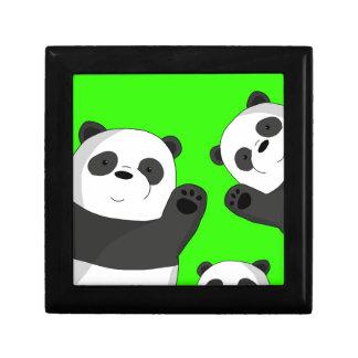 Leuke panda's decoratiedoosje