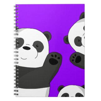 Leuke panda's ringband notitieboek