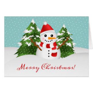 Leuke Personaliseerbare Kerstmis van de Sneeuwman Kaart