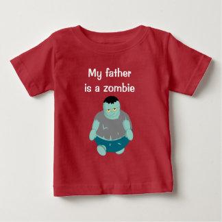 Leuke pretcartoon van een groene zombie van baby t shirts