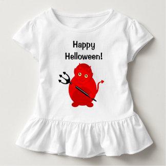 Leuke pretcartoon van een rode Duivel van Kinder Shirts