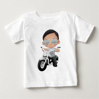 Leuke RockStar op Motorfiets Baby T Shirts