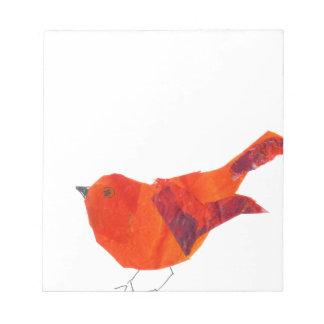 Leuke Rode Vogel Notitieblok