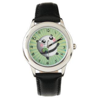 Leuke Ronde Panda Polshorloge