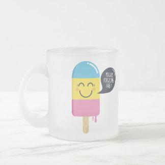 Leuke roomijsglimlach - u bent fab-Grappige bel Matglas Koffiemok