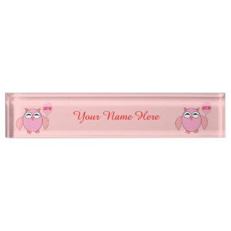 Leuke Roze Liefde u het Naambord van het Bureau