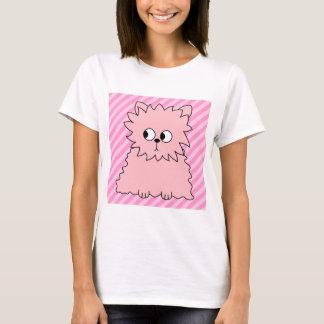 Leuke Roze Perzische kat. Roze Gestreepte T Shirt