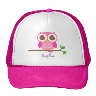 Leuke Roze Uil Girly voor Meisjes Trucker Petten