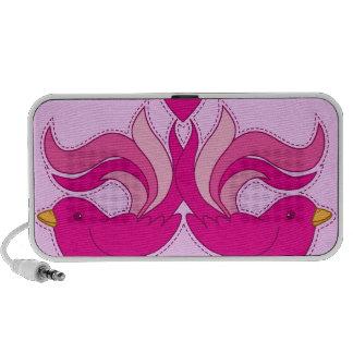 leuke roze vogelssprekers draagbare speaker