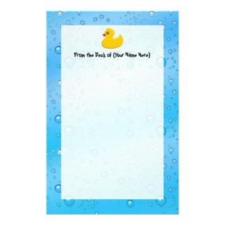 Leuke RubberDucky/Blauwe Bellen Briefpapier