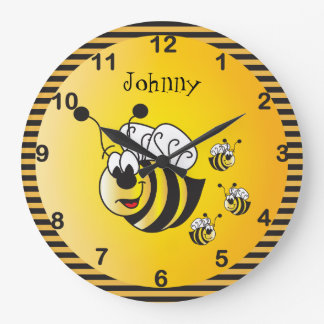 Leuke Schattig stuntelt Bijen met een Gouden Geel Grote Klok