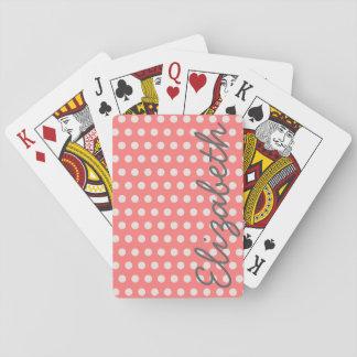 Leuke schattige girly kauwgom roze stippen speelkaarten