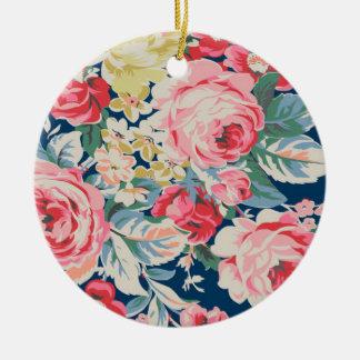 Leuke Schattige Moderne Bloeiende Bloemen Rond Keramisch Ornament