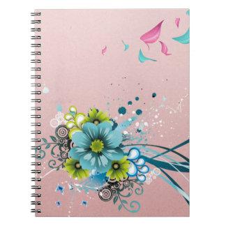 Leuke Schattige Moderne Bloemen Ringband Notitieboek
