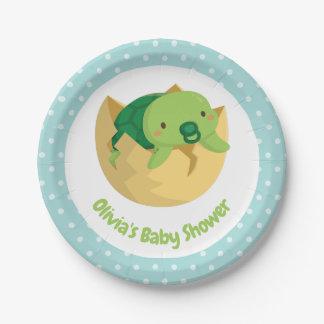Leuke Schildpad in de Borden van het Baby shower Papieren Bordje