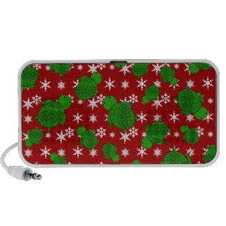 Leuke schildpad rode sneeuwvlokken iPhone speaker