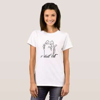Leuke slechte kat en Grappige slechte T Shirt