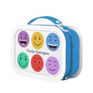 Leuke Smileys de lunchdozen van de douanenaam Lunchbox