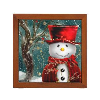 Leuke snowmans - sneeuwmanillustratie pennenhouder