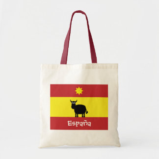 Leuke Spaanse Stier, Vlag & het Glimlachen Zon Budget Draagtas