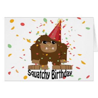 Leuke Squatchy Verjaardag Bigfoot Notitiekaart
