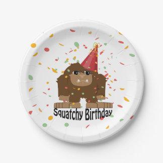 Leuke Squatchy Verjaardag Bigfoot Papieren Bordje