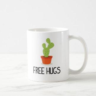 Leuke succulente cactus vrije omhelzingen koffiemok