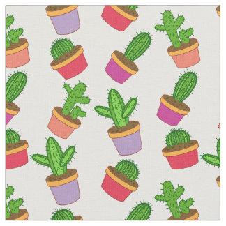 Leuke Succulente Cartoon en Cactus Stof