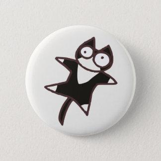 Leuke Tweekleurige kat Kawaii {Veel Katten} Ronde Button 5,7 Cm