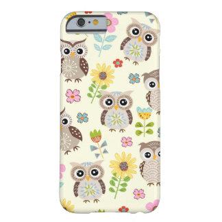 Leuke Uilen en Mooie iPhone 6 van Bloemen hoesje