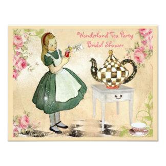 Leuke Vintage Alice in het Vrijgezellenfeest van 10,8x13,9 Uitnodiging Kaart