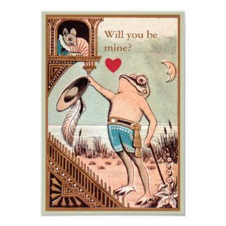 Leuke vintage de valentijnskaartkaart van de kaart