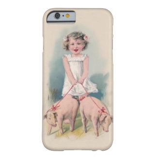 Leuke Vintage iPhone 6 hoesje - Jonge Gril die Pi  Barely There iPhone 6 Hoesje