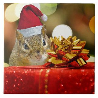 Leuke Vrolijke Kerstmis van de Aardeekhoorn Keramisch Tegeltje