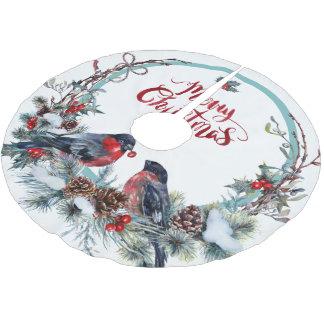 Leuke Vrolijke Kerstmis van de Kroon van Kerstboom Rok