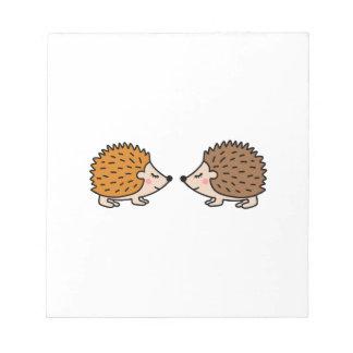 Leuke weinig hand getrokken egels in liefde notitieblok