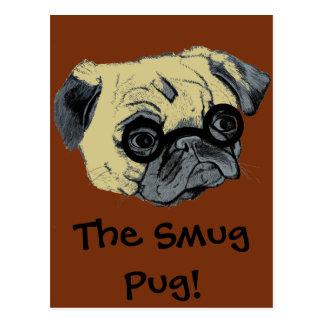 Leuke Zelfgenoegzame Pug Briefkaart