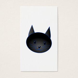Leuke Zwarte Kat. De illustratie van de Cartoon Visitekaartjes
