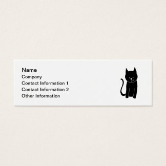 Leuke Zwarte Kat Mini Visitekaartjes