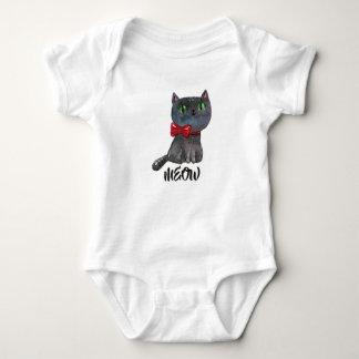 Leuke Zwarte Kat   van Halloween Overhemd Romper