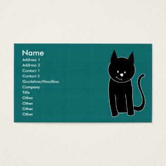 Leuke Zwarte Kat Visitekaartjes