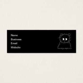 Leuke Zwarte Perzische Kat Mini Visitekaartjes