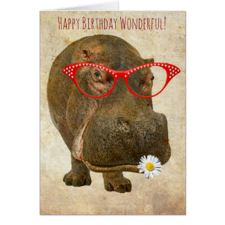 Leukste Wenskaart Hippo!