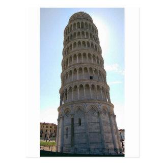 Leunende Toren van het Briefkaart van Pisa
