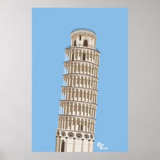 Leunende Toren van het Poster van Pisa