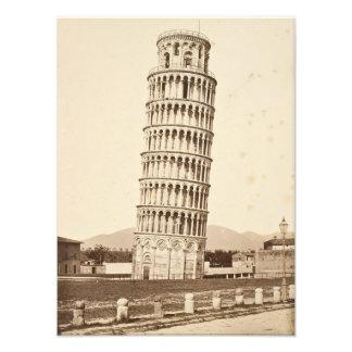Leunende Toren van Pisa Foto Afdruk